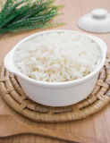 White steamed rice in bowl Stock Images