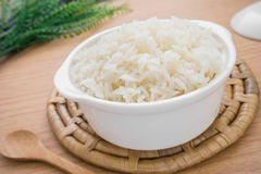 White steamed rice in bowl Royalty Free Stock Images