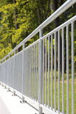 White steel fence railing Stock Image