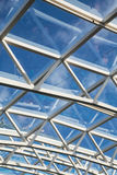 White Steel and Glass Atrium Roof Stock Photo