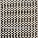 White steel metal with circle perforated holes Stock Photography