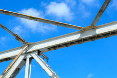 White steel structure Stock Photos