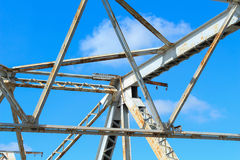 White steel structure Stock Photo