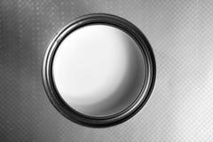 White steel tin of paint macro Stock Photos