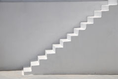 White steps stock image