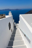 White steps in Fira Royalty Free Stock Image