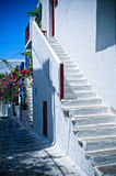 White Steps in Greece Stock Photography