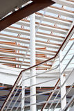White Steps and Railings on Ship. White steps and railings on a modern cruise ship Stock Image