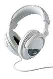 White stereo headphones Stock Photography