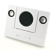 White stereo speakers Stock Images