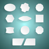 White stickers Royalty Free Stock Images