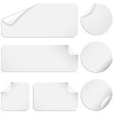 White Stickers Stock Photography
