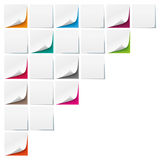 White Sticks Colored Backgrounds Boards. White sticks with colored background Stock Illustration