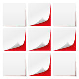 9 White Sticks Red Background Hospital Royalty Free Stock Image