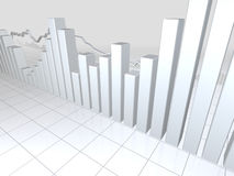 White Stock Market Graphs Stock Photo