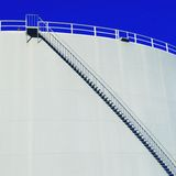 White stockage tank with stairs Stock Image
