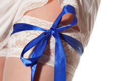 White stockings Royalty Free Stock Images