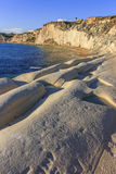 White stone bay. The famous 'Scala dei Turchi' white stoned bay in Sicily stock photography