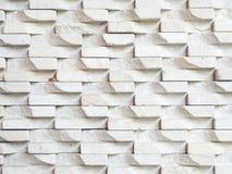 White stone brick wall background Royalty Free Stock Images