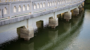 The white stone Bridge Stock Image