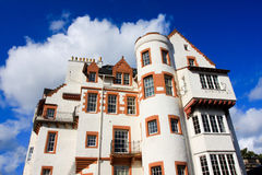 White Stone building in Edinburgh Royalty Free Stock Images