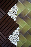 White stone on the cement floor Royalty Free Stock Photo