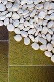 White stone on the cement floor Stock Photo
