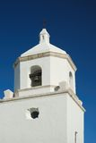 White stone church bell tower Royalty Free Stock Image