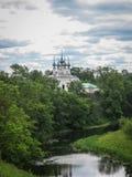 White stone church in Suzdal, Vladimir region, Russia Royalty Free Stock Photo