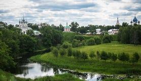 White stone church in Suzdal, Vladimir region, Russia Stock Photography