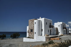 White stone cottages on the Aegean Sea. On Rhodes Island Stock Photography