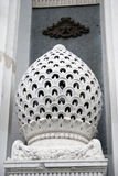 White stone flower building decoration Royalty Free Stock Image