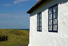 White stone house royalty free stock photos