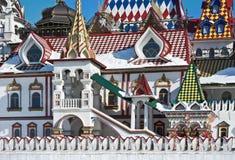 White stone house Izmailovo Kremlin in Moscow Stock Photo
