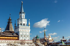 White-stone Kremlin in Izmaylovo in Moscow. Russia Stock Photography