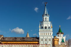 White-stone Kremlin in Izmaylovo in Moscow Royalty Free Stock Photos