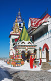 White-stone Kremlin in Izmaylovo in Moscow Stock Photography