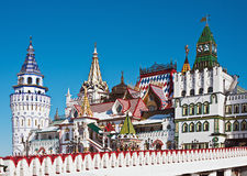White-stone Kremlin in Izmaylovo in Moscow Stock Image