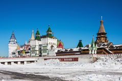 White-stone Kremlin in Izmaylovo in Moscow Royalty Free Stock Images