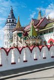 White-stone Kremlin in Izmaylovo in Moscow Stock Images