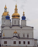 White-stone kremlin in Tobolsk, Russia. White-stone kremlin in Tobolsk is the sole stone Kremlin in Siberia Stock Photo