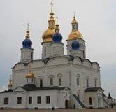 White-stone kremlin in Tobolsk, Russia. White-stone kremlin in Tobolsk is the sole stone Kremlin in Siberia Royalty Free Stock Images