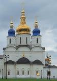 White-stone kremlin in Tobolsk, Russia. White-stone kremlin in Tobolsk is the sole stone Kremlin in Siberia Stock Photography