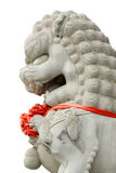 White stone lions features in the sky Royalty Free Stock Photos