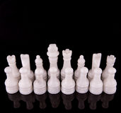 White Stone Made Chess Set III Royalty Free Stock Photos