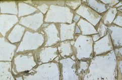 White stone mosaic texture background stock photo