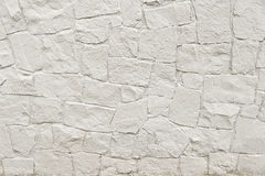 White stone mosaic wall background texture Royalty Free Stock Photo