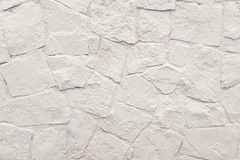 White stone mosaic wall background texture Stock Photo
