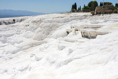 White stone, Pamukkale. In Turkey royalty free stock photos