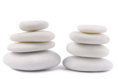 White stone pebble zen Stock Photo